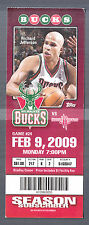 Milwaukee Bucks vs Houston Rockets Feb 9 2009 Ticket Stub Richard Jefferson pic