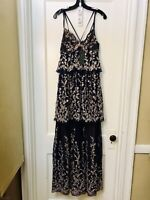 BCBG MAX AZRIA LACE EMBROIDERED TIERED LONG DRESS GOWN NWT SIZE 2 $588.00