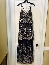 0dc1b96edff BCBG MAX AZRIA LACE EMBROIDERED TIERED LONG DRESS GOWN NEW SIZE 10  588.00