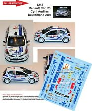DECALS 1/43 REF 1245 Renault Clio R3 Cyril Audirac Deutchland 2007