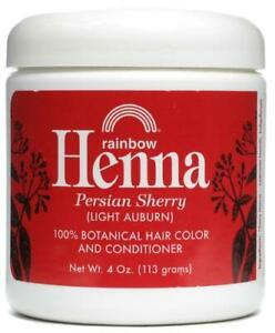 Rainbow Research Persian Sherry Light Auburn Henna Hair Color & Conditioner 4 Oz