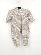 Nordstrom Baby Infants Size 9 Months Color Grey/White Hooded One Piece Body Suit