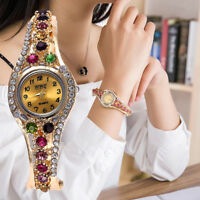 Women Diamond Casual Quartz Marble Strap Watch Analog Ladies Dress Wrist Watch