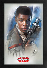 STAR WARS THE LAST JEDI FIN PROFILE 13x19 FRAMED GELCOAT POSTER EPISODE XIII NEW
