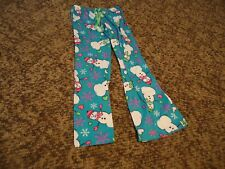 Girls Snowman/Snowflake Pajama Pants size 14 by Justice