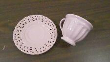 The Queen's Treasures Pink Ceramic Teacup & Saucer
