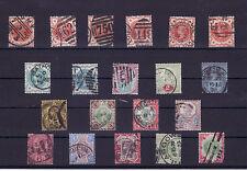 ROYAUME UNI UK VICTORIA 1887/1900  LOT OBL COTE 360Euros BELLES OBLITERATIONS