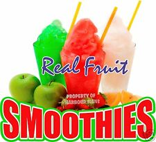 """Smoothies Decal 14"""" Fresh Fruit Drink Concession Food Truck Vinyl Sticker"""