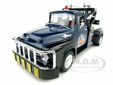 1956 Ford F-100 TOW TRUCK BOB'S TOWING BLUE 1:18 DIECAST MODEL  BY WELLY 19834