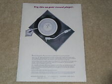 AR Acoustic Research Turntable Ad, 1966, Article, Info, 1 Page