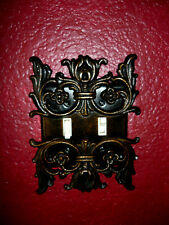 Metal Double Light Switch Plate Cover Old World Hand Made Tuscan Medieval Fleur