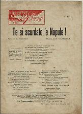 1915 COPIELLA TE SI SCURDATO 'E NAPULE ERNESTO MUROLO NARDELLA LA CANZONETTA