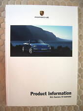 PORSCHE 911 997 CARRERA /S/CABRIO PRODUCT INFORMATION MANUAL BROCHURE 2005-2008