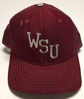 Vtg Washington State Cougars Hat Med Large Cap New Era USA Made WSU WA Destroyed