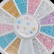 240pcs 3D Candy AB Color Nail Art Pearl Acrylic Glitter Manicure DIY Decoration