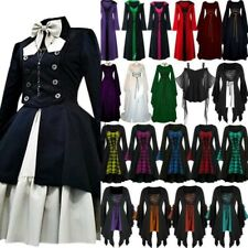 Women Halloween Fancy Renaissance Dress Gothic Party Witch Cosplay Adult Costume