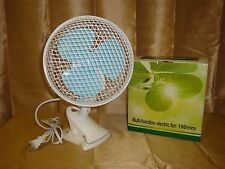 """9"""" PORTABLE COMBO TABLE DESK STAND & CLIP ON OSCILLATING 2 SPEED AC ELECTRIC FAN"""