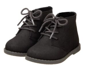 Gymboree Holiday Dressed Up Boots Black Hi top Boys Christmas Shoes Size 4
