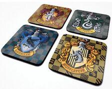 Harry Potter Coaster Set X 4 Ravenclaw Gryffindor Slytherin Hufflepuff Hogwarts