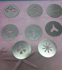 Wear Ever Super Shooter Cookie press Replacement Parts 8 Cookie Discs Metal