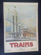 TRES RARE ancienne revue SNCB Trains N° 2 1951 rail Belgique TTBE