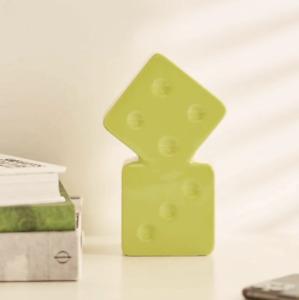 Stussy Dice Vase 100% Ceramic Lime 138703 0412