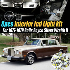 8Pc White Car Interior LED Light Kit for 1977-1979 Rolls Royce Silver Wraith II