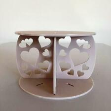 Hearts Design Round Wedding/Party Cake Separators - Latte Acrylic