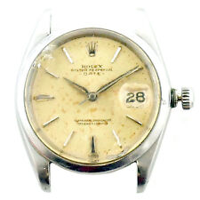ROLEX 1500 OYSTER PERPETUAL DATE CHRONOMETER S.S. WATCH HEAD FOR PARTS OR REPAIR