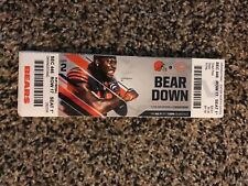 2017 CHICAGO BEARS VS CLEVELAND BROWNS NFL TICKET STUB 8/31