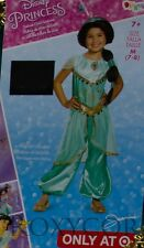 Halloween Disney Prestige Jasmine Jumpsuit Dress Up Costume Size Medium 7-8 NWT