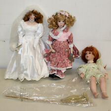 "Lot of Six (6) Porcelain Dolls, 12-16"" Tall, No Boxes"