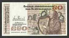 50 Pounds Irish Ireland Series B Banknote 74-B 05.11.91 HLD 075977 AU