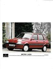 ROVER METRO 1.4 GSi PRESS PHOTO 'L' REGISTERED MODEL 'SALES BROCHURE' CONNECTED