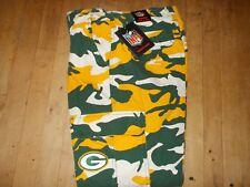 NWTS NFL WISCONSIN GREEN BAY PACKERS Camo Cargo FLEECE Lined Pants Sz 32W X 30L