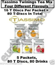 Tassimo Twinings Tea Mix Four Different Tea Blends 5 Packets 80 T Discs, Drinks
