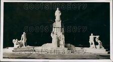1932 Model of Proposed Monument by Sculptor Francois Leon Sicard Press Photo