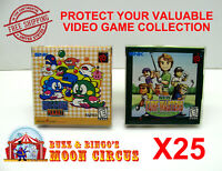25X NEO GEO POCKET / COLOR CIB GAME - CLEAR PLASTIC PROTECTIVE BOX PROTECTORS