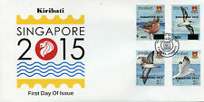 Kiribati 2015 FDC Birds Definitives Singapore 2015 Overprint O/P 4v Set Cover