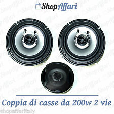 KIT COPPIA CASSE AUDIO 200.W WATT 2 VIE 13 CM COPPIA  .ALTOPARLANTI AUTO TWEETER