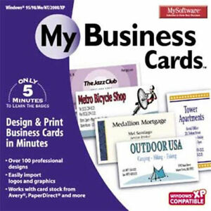 MY SOFTWARE MY BUSINESS CARDS  PC Win 7 8 10  Easy to Use  Brand New Sealed