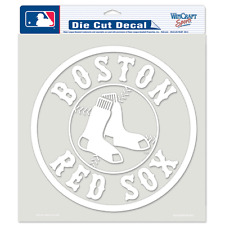 Boston Red Sox Car Window Decal 8 Decal Wheel White