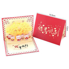 2019 Chinese Happy New Year 3D Pig Kraft Gifts Greeting Cards Postcard HC