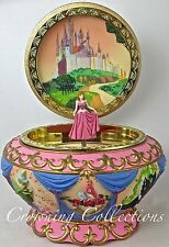 Disney Sleeping Beauty Music Box Princess Aurora Round Jewelry Box PINK Dress