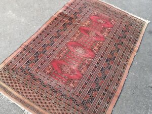 pers ian vintage rug carpet orien tal wool,tribal-red  fireside hearth