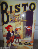 """BISTO- FOR ALL MEAT DISHES, COLLECTABLE 12""""X 8"""" METAL SIGN Bisto Kids KITCHEN"""