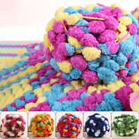 135g Thick Woolen Big Pom Pom Yarn Soft Hand Knitting Crochet Yarn DIY Craft New