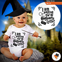 WAITING FOR HOGWARTS LETTER BABY GROWS HARRY POTTER THEME BODYSUIT VEST GIFT
