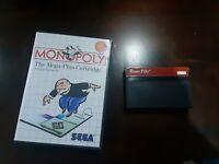 Monopoly (Sega Master, 1988) Cartridge and case - Tested!!