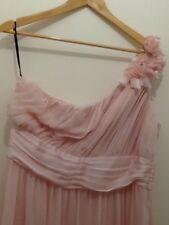 H&M Maxikleid One Shoulder Abendkleid Kleid Rosa Mit Blumen Gr. 40 - 42 Neu